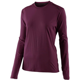 Troy Lee Designs Lilium Longsleeve Jersey Dames, deep fig
